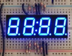 7 Segment Four Digit Clock Display