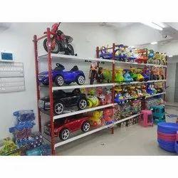 Multicolor Metal Gift Shop Display Rack, For Malls, 6 Shelves