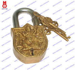 Lock W/Keys Saraswati Design