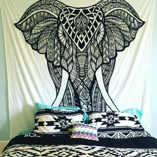 Elephant Tapestry Wall Hanging Mandala Wall Tapestry
