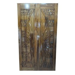 Exterior Hinged Wooden Entry Double Door, for Home