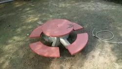 Concrete Outdoor Table Bench