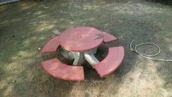 Concrete Outdoor Table Bench