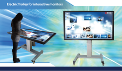 Motorized Trolley For Touch Screens & TV- 40
