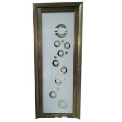 Aluminium Glass Bathroom Door