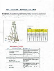 Aluminum MS BIG Wheeled Tower Ladder