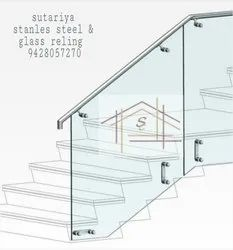 50mm Stainless Steel Glass Railing, for Home