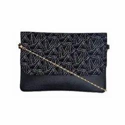 Azzra Black Sling Clutch Bag