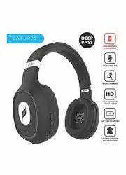 Black Over The Head Leaf Bass Wireless Headphones