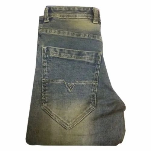 Regular Fit Casual Wear Mens Faded Jeans, Size: 40
