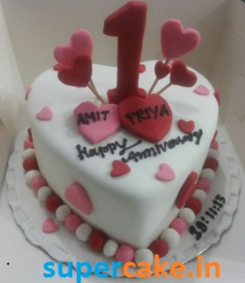 1 Kg Anniversary Cake View Specifications Details Of Cream Cake