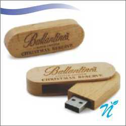 Wooden Swivel Shaped Pendrive