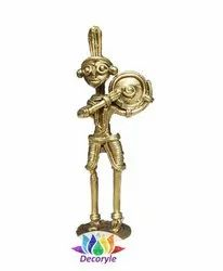 Brass Golden Dokra, for Decoration, Size: 5 Inches
