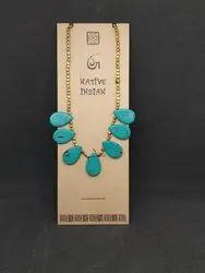 Brass Female Native Indian Jodha Handmade Jewelry Necklace Chain