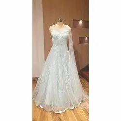 Modern Creations Net Ladies White Gown
