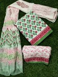 Cotton Printed Dress Material For Reselling