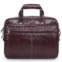 Burgundy Leather Office Laptop Bag
