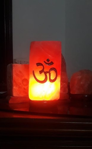 Om Engraved Himalayan Salt Lamp