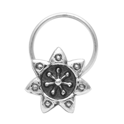 925 Sterling Silver Oxidized Nose Pin