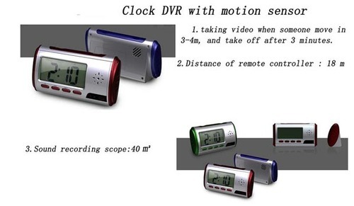 Digital Clock Spy Camera