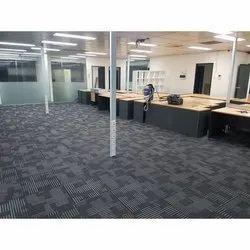 Rectangular Gray Office PVC Carpet, 50 x 35 cm, Thickness: 6 mm