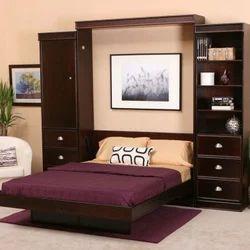 Teak Wood Modern Double Bed