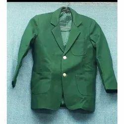 Cotton Plain Green School Blazer