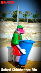FRP Chimpanzee Dustbin