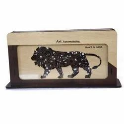Hans Art Brown Wooden Momento make in india logo trophy, For Home