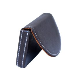 Brown & Black Leather Soft Card Holder