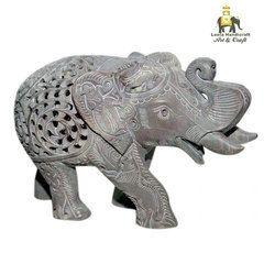 Stone Salute Elephant Statue