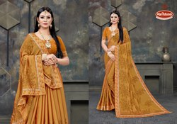 Embroidery & Stone Work Saree - Daulat