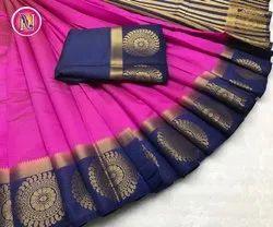 Fancy Cotton Ladies Wear Saree