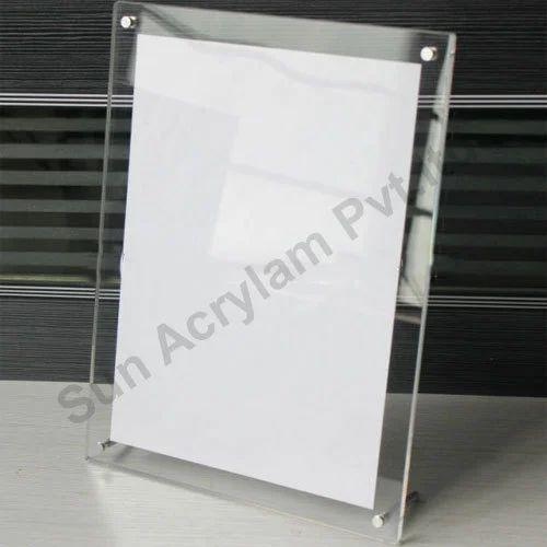 Clear Acrylic Sheet Photo Frame at Rs 300 /piece | Acrylic Photo ...