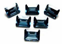 London Blue Topaz Faceted Octagon Cut Gemstone