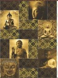 Hand made Multicolor Buddha Wall Art tile, Size: 30 * 60 In cm, Thickness: 5-10 mm