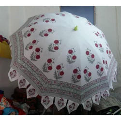 Block Print Garden Umbrella