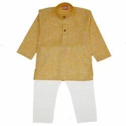 Khadi Boys Kurta Pyjama