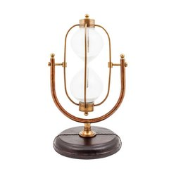 Nautical Marine Maritime Sand Timer With Wooden Base