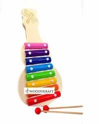 WOODYKRAFT Wooden Guitar  Xylophone Musical Toy For Children with 8 Notes(Big Size)