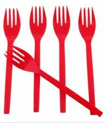 Disposable Red Fork