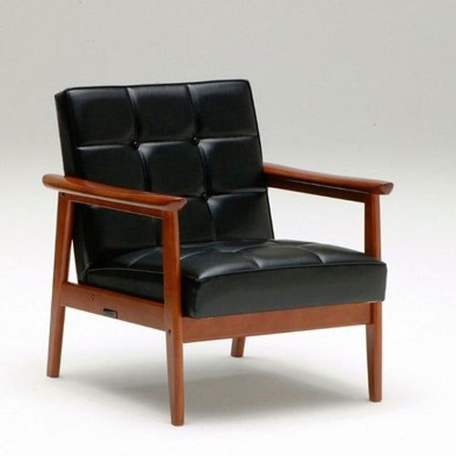 Wood Leather Wooden Chair