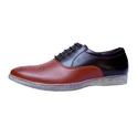 Men Dual Color Synthetic Leather Shoes, Size: 6 - 10