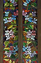 Sri modi glass galery Floral Stained Glass