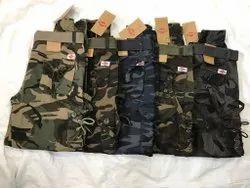 Cotton/Linen Printed Cargo Pants