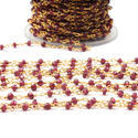 Rhodolite Garnet Beaded Chains