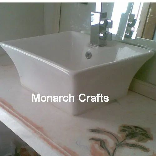 Monarch Crafts White Marble Sinks