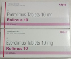Rolimus 10 mg Tablets, Packaging Type: Strip
