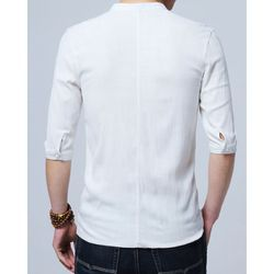 Fashion Fruit White Mens Plain Shirt