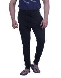 Men Black Solid Slim Fit Joggers